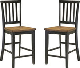 JCPenney Callan Slat Set of 2 Counter- Height Dining Chairs