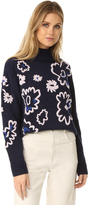 Rebecca Taylor Floral Embroidered Sweater