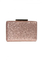 AX Paris Mini Champagne Clutch With Gold Fastening