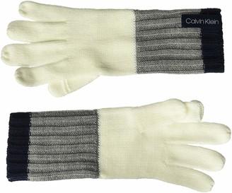 Calvin Klein Women's Colorblock Knit Gloves
