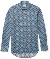 Etro Slim-Fit Printed Cotton-Poplin Shirt