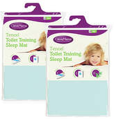 Clevamama 2 Pack Tencel Toilet Training Mat - Blue
