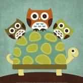 Art.com Three Owls on Turtle