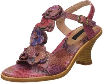 Neosens Womens S982 Fantasy Negreda T-Strap Sandals Pink (Floral Rose) 6 UK