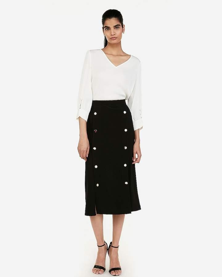 dac38f8d7 High Waist Fitted Pencil Skirt - ShopStyle