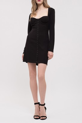 J.o.a. Wide Neck Sheath Mini Dress