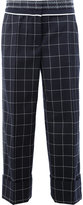 Thom Browne checked tailored pants - women - Silk/Wool - 38