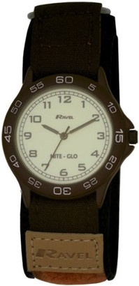 Ravel Children's Glow in The Dark Nylon Strap Watch