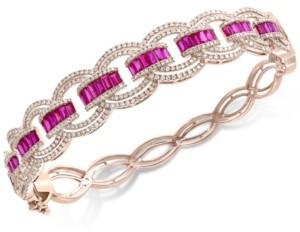 Effy Certified Ruby (3 ct. t.w.) & Diamond (2 ct. t.w.) Bracelet in 14k Rose Gold