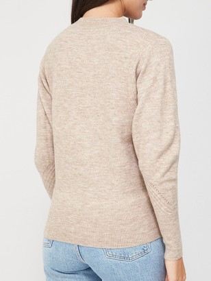 Very Batwing Crew Neck Jumper - Oatmeal