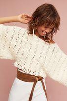 Anthropologie Darya Cropped Sweater, Ivory