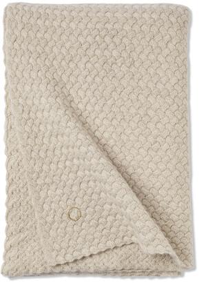Oyuna Scala 100% Cashmere Throw - 180x120cm - Beige