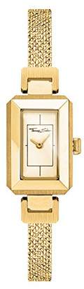 Thomas Sabo Women Women's Watch Mini Vintage Stainless Steel Yellow-Gold-Coloured Milanaise Bracelet, Embossed WA0331-264-207
