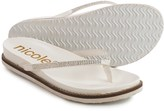Nicole Studded Rhody Flip-Flops - Vegan Leather (For Women)