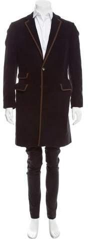 Michael Bastian Notch-Lapel Three-Button Coat