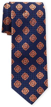 Ted Baker Navy & Orange Spaced Medallion Tie