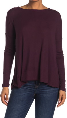 H By Bordeaux Ribbed Knit Back Vent Sweater