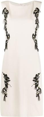Dorothee Schumacher Floral-Embroidered Sleeveless Dress