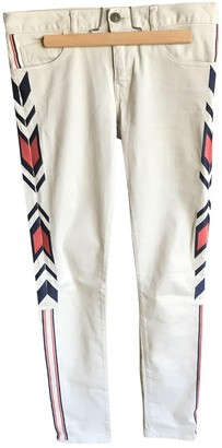 Bel Air Beige Cotton - elasthane Jeans for Women