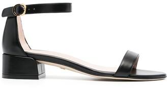 Stuart Weitzman Patent Ankle-Strap Sandals