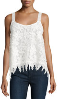 Romeo & Juliet Couture Floral-Lace Scoop-Neck Tank, Ivory