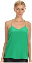 Tibi Solid Heavy CDC Cami (Green) - Apparel