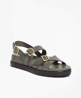 Brooks Brothers Leather Platform Sandals
