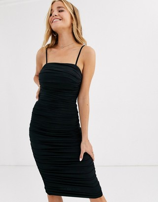 Lipsy slinky cami dress in black