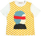 Marni Junior Face Printed Cotton Jersey T-Shirt