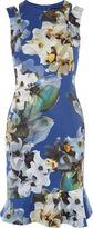 Karen Millen Floral Scuba Dress - Blue/multi