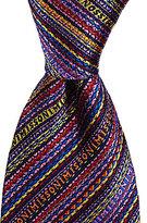 Missoni Logo-Striped Traditional Silk Tie