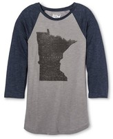 Minnesota Local Pride by Todd Snyder Men's State Map Raglan Tee - Heather Gray