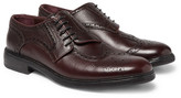 Burberry Asymmetric Pebble-Grain Leather Wingtip Brogues