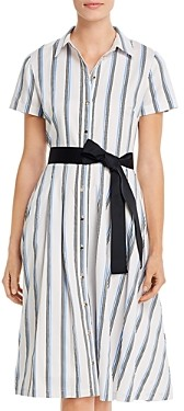 Karl Lagerfeld Paris Striped Shirt Dress