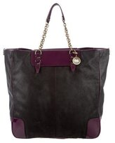 Lanvin Patent Leather-Trimmed Tote