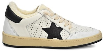 Vintage Havana Trust Faux Fur Dotted Leather Sneakers