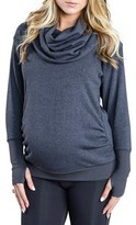 Cozy Orange Women's 'Phoebe' Cowl Neck Maternity Sweater