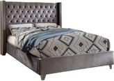 Verlaine Aiden Grey Velvet Bed