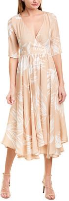 Max & Moi Silk-Blend A-Line Dress