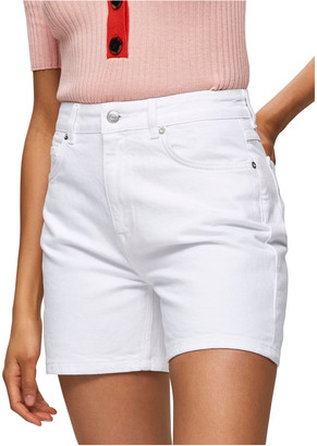 Selected White Denim Shorts