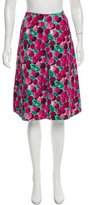 Marc Jacobs Floral Print Knee-Length Skirt