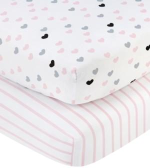 NoJo Hugs & Kisses Crib Sheet 2-Pack Bedding