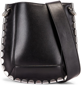 Isabel Marant Nasko Shoulder Bag in Black & Silver | FWRD