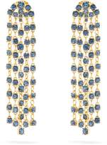 Oscar de la Renta Crystal-embellished clip-on earrings