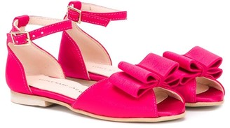 Little Marc Jacobs bow-embellished flat sandals