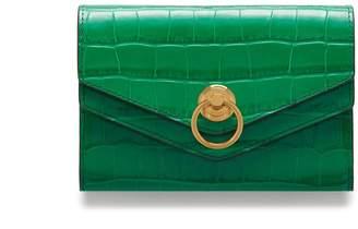 Mulberry Harlow Medium Wallet Emerald Green Croc Print