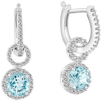 Effy 14K 1.86 Ct. Tw. Diamond & Aquamarine Earrings