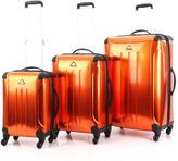 Triforce Luggage Apex #100 Alumylene 3-piece Hardside Spinner Luggage Set