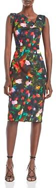 Black Halo Jackie O Floral Print Sheath Dress