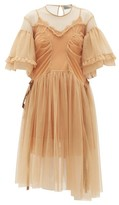 Preen by Thornton Bregazzi Petra Ruffled Tulle Dress - Womens - Beige
